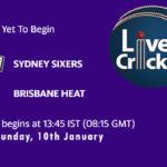 SYS vs BRH Live Score, Big Bash League, SYS vs BRH Scorecard Today, SYS vs BRH Playing XIs