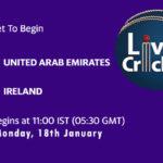 UAE vs IRE Live Score, Ireland tour of UAE, 2021, 2nd ODI, UAE vs IRE Scorecard Today Match, Playing XI, Pitch Report