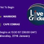WAR vs CC Live Score, Momentum One Day Cup, 2021, WAR vs CC Scorecard Today Match, Playing XI, Pitch Report