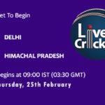 DEL vs HIM Live Score, Vijay Hazare Trophy, DEL vs HIM Scorecard Today, DEL vs HIM Playing XIs