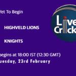 HL vs KTS Live Score, Match 10, HL vs KTS Scorecard Today Match, Pitch Report, Fantasy XI