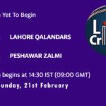 LAH vs PES Live Score, PSL 2021, LAH vs PES Scorecard Today Match, Pitch Report, Fantasy XI