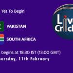 PAK vs SA Live Score, 1st T20I, PAK vs SA Scorecard Today Match, PAK vs SA Playing XIs