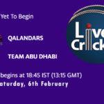 QAL vs TAD Live Score, 3rd Place Play off, Abu Dhabi T10 League, QAL vs TAD Scorecard Today Match, Playing XI, Pitch Report