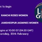 RAN-W vs JAM-W Live Score, 3rd Place Play-Off, Jharkhand Women's T20 Trophy 2021, RAN-W vs JAM-W Scorecard Today
