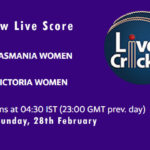 TAS-W vs VCT-W Live Score, Women's National Cricket League, 2021, TAS-W vs VCT-W Scorecard Today, TAS-W vs VCT-W Playing XIs