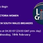 VCT-W vs NSW-W Live Score, Women's National Cricket League, 2021, VCT-W vs NSW-W Scorecard Today Match