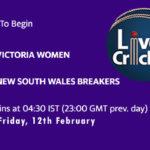 VCT-W vs NSW-W Live Score, Women's National Cricket Live Score, VCT-W vs NSW-W Scorecard Today, VCT-W vs NSW-W Playing XIs