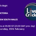 VCT vs NSW Live Score, Sheffield Shield 2020-21, VCT vs NSW Scorecard Today, VCT vs NSW Playing XIs