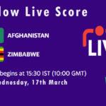 AFG vs ZIM Live Score, Afghanistan and Zimbabwe tour of UAE, 2021, AFG vs ZIM Scorecard Today