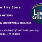 AM-W vs NSW-W Live Score, Women's National Cricket League, 2021, AM-W vs NSW-W Dream11 Today Match