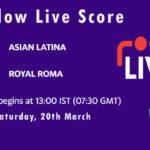 ASL vs ROR Live Score, 1st Semi-Final, ECS T10 Italy 2021, ASL vs ROR Scorecard Today