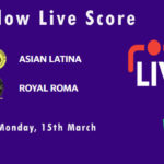 ASL vs ROR Live Score, ECS T10 Rome 2021, ASL vs ROR Scorecard Today