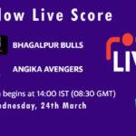 BB vs AA Live Score, Bihar Cricket League T20, 2021, BB vs AA Scorecard Today
