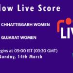 CHA-W vs GUJ-W Live Score, Womens Senior One Day Trophy, 2021, CHA-W vs GUJ-W Scorecard Today