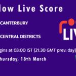 CTB vs CD Live Score, Plunket Shield 2020-21, CTB vs CD Scorecard Today