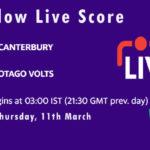 CTB vs OV Live Score, Plunket Shield, 2020-21, CTB vs OV Dream11 Today Match