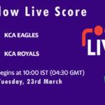 EAG vs ROY Live Score, KCA Presidents Cup T20 2021, EAG vs ROY Scorecard Today