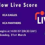 EAG vs PAN Live Score, KCA Presidents Cup T20 2021, EAG vs PAN Scorecard Today