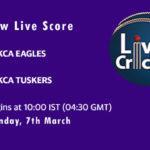 EAG vs TUS Live Score, KCA Presidents Cup T20, 2021, EAG vs TUS Dream11 Today Match