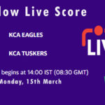 EAG vs TUS Live Score, KCA Presidents Cup T20, 2021, EAG vs TUS Scorecard Today