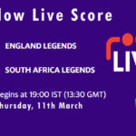 ENGL vs SAL Live Score, Road Safety T20 World Series, 2020-21, ENGL vs SAL Dream11 Today Match