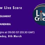 GUJ vs AND Live Score, 1st Quarter Final, Vijay Hazare Trophy, 2021, GUJ vs AND Dream11 Today Match