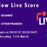 GUJ vs UP Live Score, 1st Semi-Final, Vijay Hazare Trophy, 2021, GUJ vs UP Dream11 Today Match