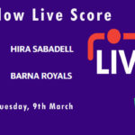 HIS vs BAR Live Score, ECS Spain, Barcelona, 2021, HIS vs BAR Dream11 Today Match