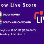 IN-W vs SA-W Live Score, South Africa Women tour of India, 2021, IN-W vs SA-W Scorecard Today
