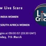 IN-W vs SA-W Live Score, 1st ODI, South Africa Women tour of India, 2021, IN-W vs SA-W Dream11 Today Match