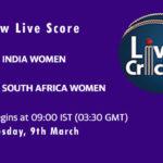 IN-W vs SA-W Live Score, 2nd ODI, South Africa Women tour of India, 2021, IN-W vs SA-W Dream11 Today Match