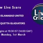 ISL vs QUE Live Score, PSL 2021, ISL vs QUE Scorecard Today, ISL vs QUE Playing XIs