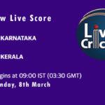 KAR vs KER Live Score, 2nd Quarter Final, Vijay Hazare Trophy, 2021, KAR vs KER Dream11 Today Match