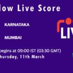KAR vs MUM Live Score, 2nd Semi-Final, Vijay Hazare Trophy, 2021, KAR vs MUM Dream11 Today Match