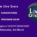 KAR vs PES Live Score, PSL 2021, KAR vs PES Live Scorecard, KAR vs PES MyStars11 Prediction Today