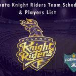 Kolkata Knight Riders IPL 2021 Team Schedule & Players List