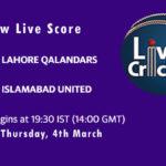 LAH vs ISL Live Score, PSL 2021, LAH vs ISL MyStars11 Match Prediction Today