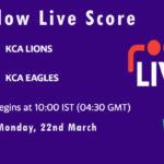 LIO vs EAG Live Score, Semi Final 1, KCA Presidents Cup T20 2021, LIO vs EAG Scorecard Today