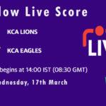 LIO vs EAG Live Score, KCA Presidents Cup T20, 2021, LIO vs EAG Scorecard Today