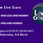 NZ-W vs EN-W Live Score, 1st T20I Live Score, NZ-W vs EN-W Dream11 Match Predictions Today