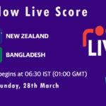 NZ vs BAN Live Score, 1st T20I,  Bangladesh tour of New Zealand, 2021, NZ vs BAN Scorecard Today