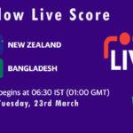 NZ vs BAN Live Score, 2nd ODI, Bangladesh tour of New Zealand, 2021, NZ vs BAN Scorecard Today