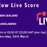 NZ vs BAN Live Score, 3rd ODI, Bangladesh tour of New Zealand, 2021, NZ vs BAN Scorecard Today