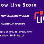 NZW vs AUSW Live Score, 1st T20I, Australia Women tour of New Zealand, 2021, NZW vs AUSW Scorecard Today