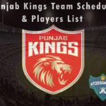Punjab Kings (PBKS) IPL 2021 Team Schedule & Players List