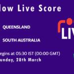 QUN vs SAU Live Score, Marsh One Day Cup, 2021, QUN vs SAU Scorecard Today