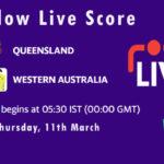 QUN vs WAU Live Score, Marsh One Day Cup, 2021, QUN vs WAU Dream11 Today Match