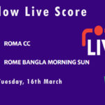 RCC vs RBMS Live Score, ECS T10 Rome 2021, RCC vs RBMS Dream11 Today Match