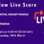RCP vs PAD Live Score, ECS Italy, Venice, 2021, RCP vs PAD Scorecard Today